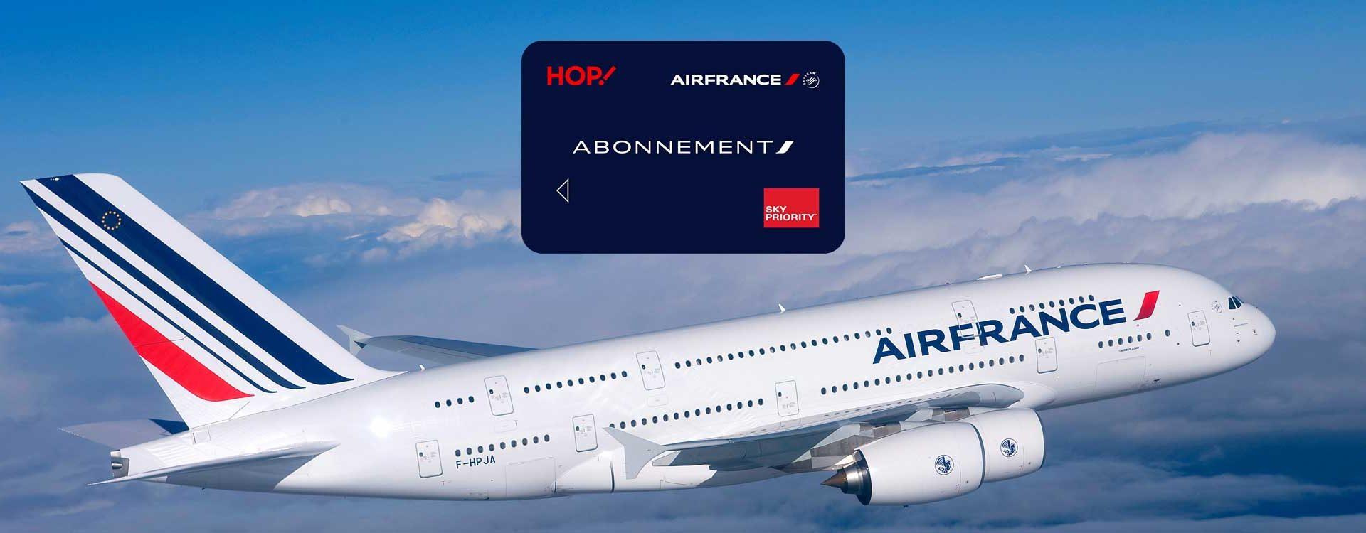 Evolution de la carte d'abonnement AIR FRANCE sur le court ...